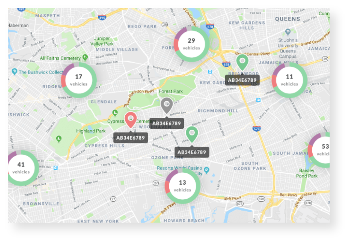 Get real time visibility of your fleet schedules.